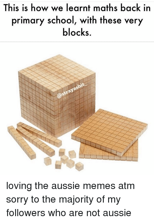 Aussie: This is how we learnt maths back in  primary s  chool, with these  very  locks. loving the aussie memes atm sorry to the majority of my followers who are not aussie