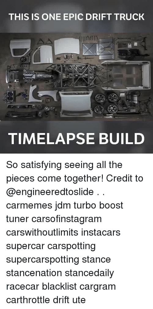 trucking: THIS IS ONE EPIC DRIFT TRUCK  TIMELAPSE BUILD So satisfying seeing all the pieces come together! Credit to @engineeredtoslide . . carmemes jdm turbo boost tuner carsofinstagram carswithoutlimits instacars supercar carspotting supercarspotting stance stancenation stancedaily racecar blacklist cargram carthrottle drift ute