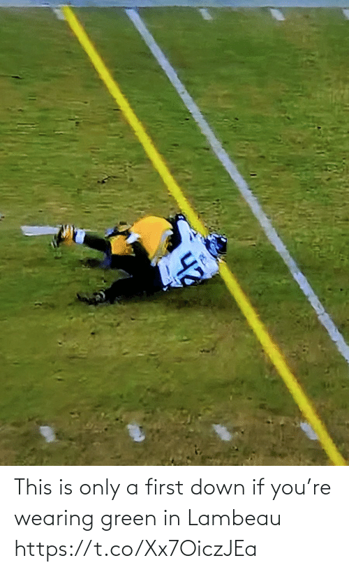 this is: This is only a first down if you're wearing green in Lambeau https://t.co/Xx7OiczJEa