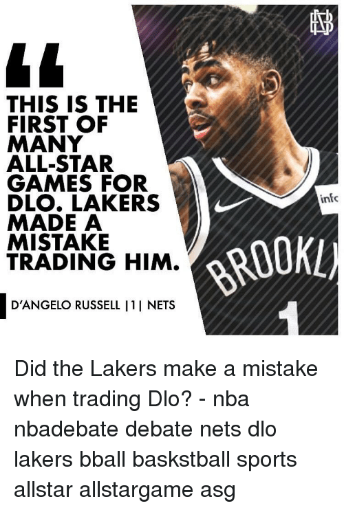 Allstar: THIS IS THE  FIRST OF  MANY  ALL-STAR  GAMES FOR  DLO. LAKERS  MADE A  MISTAKE  TRADING HIM.  infc  ROOKL)  D'ANGELO RUSSELL I1I NETS Did the Lakers make a mistake when trading Dlo? - nba nbadebate debate nets dlo lakers bball baskstball sports allstar allstargame asg