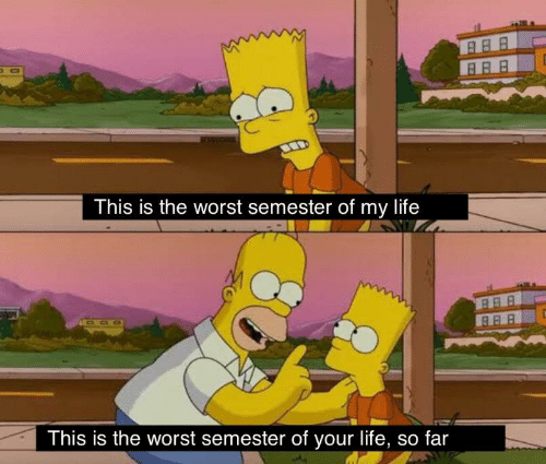 This Is The Worst: This is the worst semester of my life  This is the worst semester of your life, so far