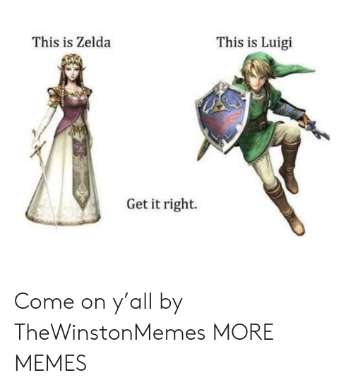 Dank, Memes, and Target: This is Zelda  This is Luigi  Get it right. Come on y'all by TheWinstonMemes MORE MEMES