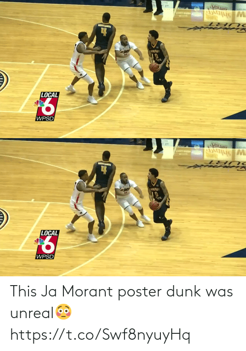 Poster: This Ja Morant poster dunk was unreal😳 https://t.co/Swf8nyuyHq
