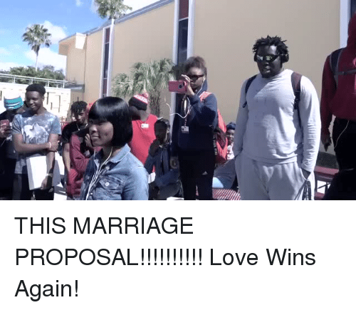 proposal: THIS MARRIAGE PROPOSAL!!!!!!!!!! Love Wins Again!
