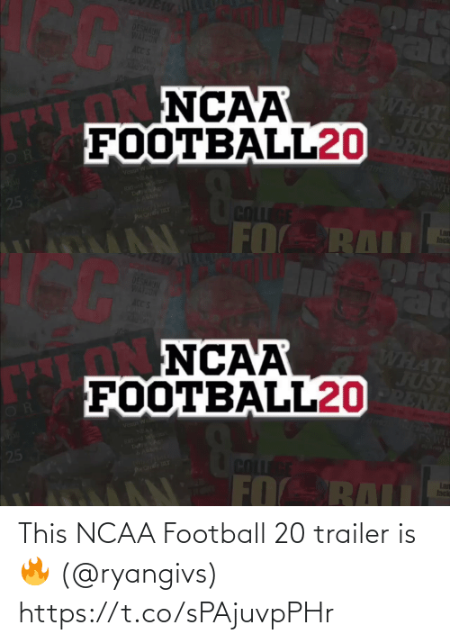 trailer: This NCAA Football 20 trailer is 🔥 (@ryangivs) https://t.co/sPAjuvpPHr