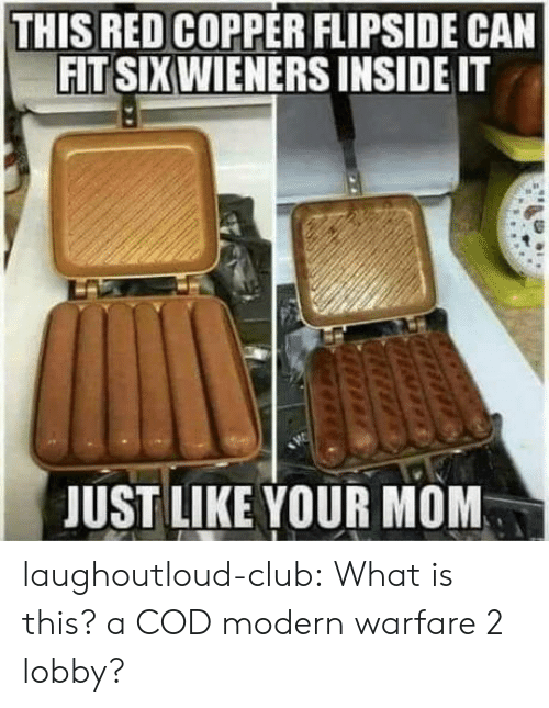 Can Fit: THIS RED COPPER FLIPSIDE CAN  FIT SIXWIENERS INSIDE IT  JUST LIKE YOUR MOM laughoutloud-club:  What is this? a COD modern warfare 2 lobby?