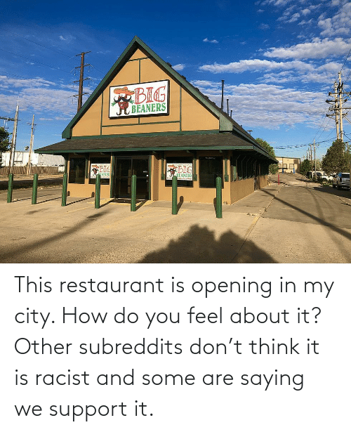 Restaurant: This restaurant is opening in my city. How do you feel about it? Other subreddits don't think it is racist and some are saying we support it.