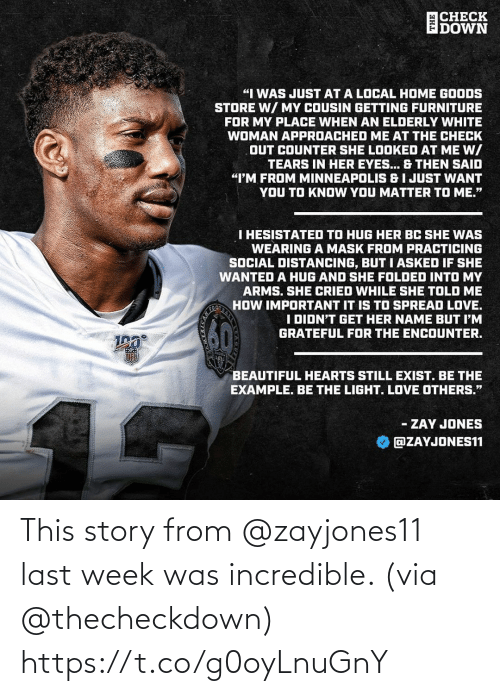 week: This story from @zayjones11 last week was incredible. (via @thecheckdown) https://t.co/g0oyLnuGnY