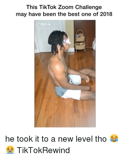 Zoom, Best, and Girl Memes: This TikTok Zoom Challenge  may have been the best one of 2018  TikTok  eblacktrunk he took it to a new level tho 😂😭 TikTokRewind
