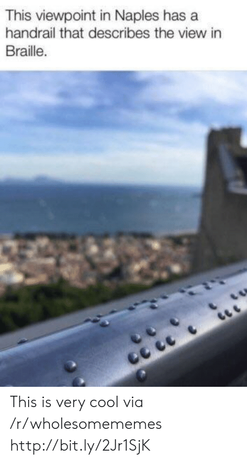 Cool, Http, and The View: This viewpoint in Naples has a  handrail that describes the view in  Braille. This is very cool via /r/wholesomememes http://bit.ly/2Jr1SjK