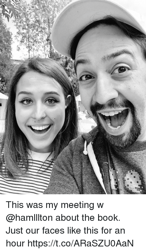 Memes, Book, and 🤖: This was my meeting w @hamlllton about the book. Just our faces like this for an hour https://t.co/ARaSZU0AaN