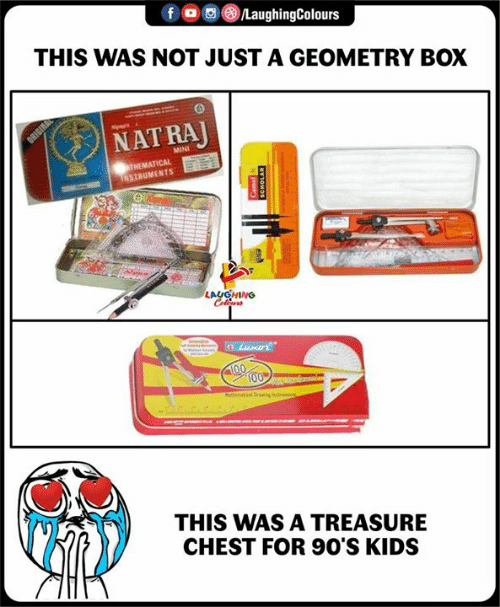 Kids, Indianpeoplefacebook, and 90's: THIS WAS NOT JUST A GEOMETRY BOX  NAT RA  MINI  THEMATICAL  NSTRUMEN TS  THIS WAS A TREASURE  CHEST FOR 90'S KIDS