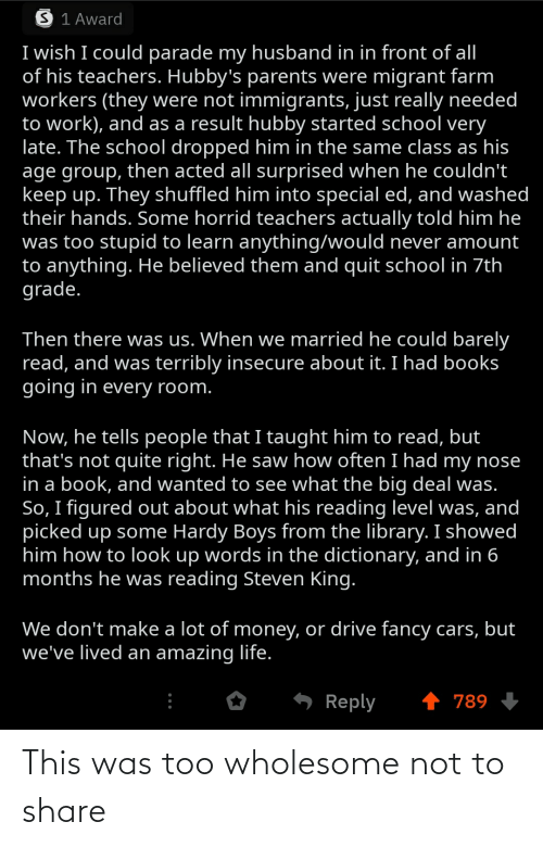 Wholesome: This was too wholesome not to share