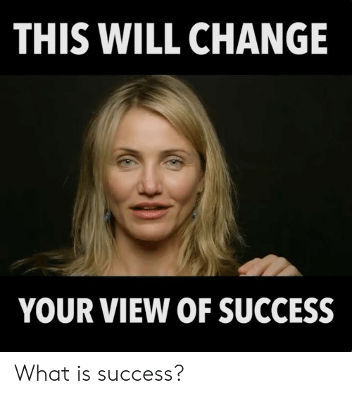 Memes, What Is, and Change: THIS WILL CHANGE  YOUR VIEW OF SUCCESS What is success?