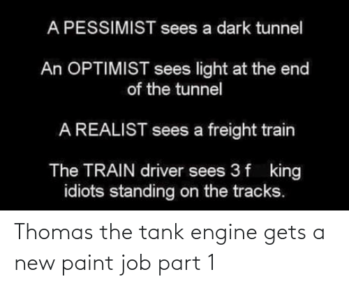job: Thomas the tank engine gets a new paint job part 1