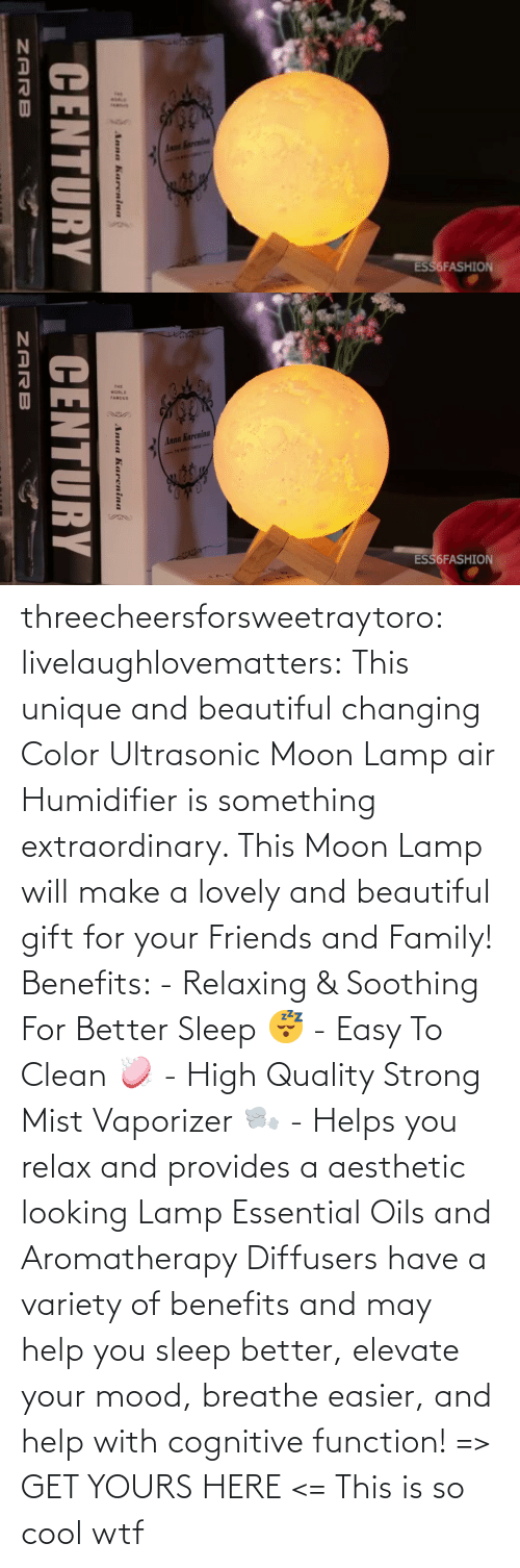 WTF: threecheersforsweetraytoro: livelaughlovematters:   This unique and beautiful changing Color Ultrasonic Moon Lamp air Humidifier is something extraordinary. This Moon Lamp will make a lovely and beautiful gift for your Friends and Family! Benefits:  - Relaxing & Soothing For Better Sleep 😴 - Easy To Clean 🧼 - High Quality Strong Mist Vaporizer 🌬️ - Helps you relax and provides a aesthetic looking Lamp Essential Oils and Aromatherapy Diffusers have a variety of benefits and may help you sleep better, elevate your mood, breathe easier, and help with cognitive function! => GET YOURS HERE <=    This is so cool wtf