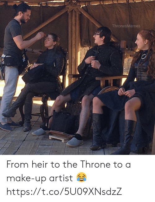 Artist, Make, and  Make Up: ThronesMemes From heir to the Throne to a make-up artist 😂 https://t.co/5U09XNsdzZ