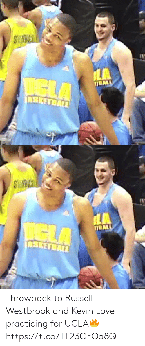 Kevin Love: Throwback to Russell Westbrook and Kevin Love practicing for UCLA🔥 https://t.co/TL23OEOa8Q