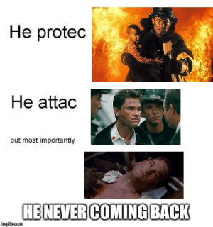 Protec But He Also Attac