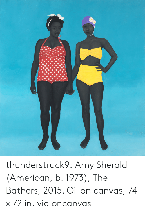 amy: thunderstruck9: Amy Sherald (American, b. 1973), The Bathers, 2015. Oil on canvas, 74 x 72 in. viaoncanvas