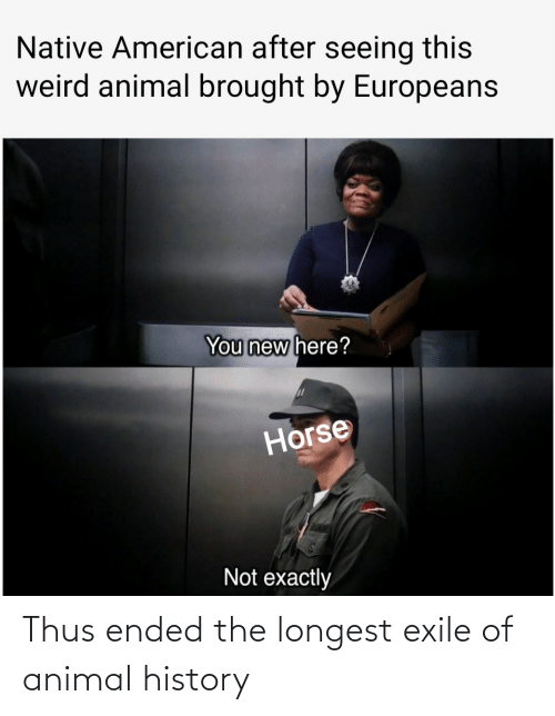 Ended: Thus ended the longest exile of animal history