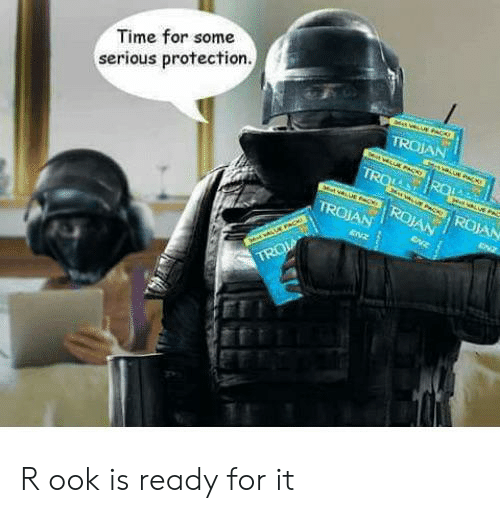 Time, Trojan, and Pac: Time for some  serious protection.  TROJAN  tU PACKe  TRO  RO  3 P  c ROJAN  TROJAN  ROJAN  ENZ  ENZ  Md PAC  TRO R ook is ready for it