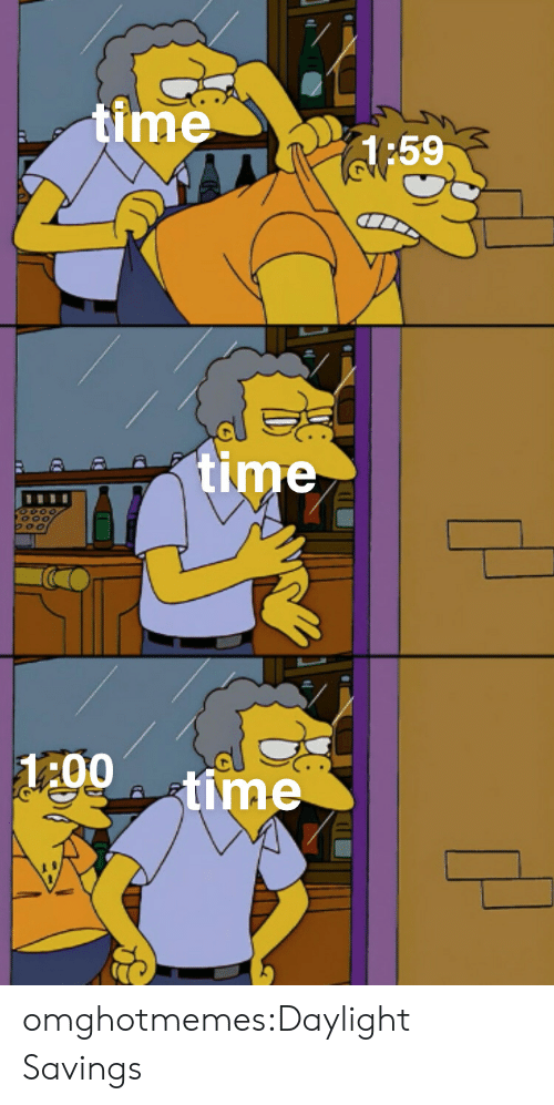 Target, Tumblr, and Blog: time  H:59  time  1:00  time omghotmemes:Daylight Savings