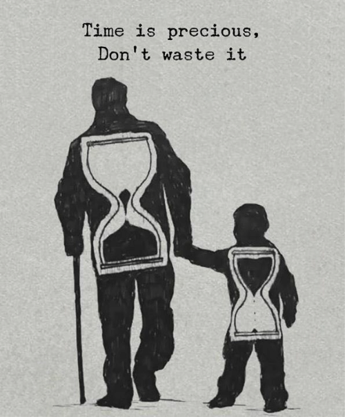 Precious, Time, and  Dont: Time is precious,  Don't waste it
