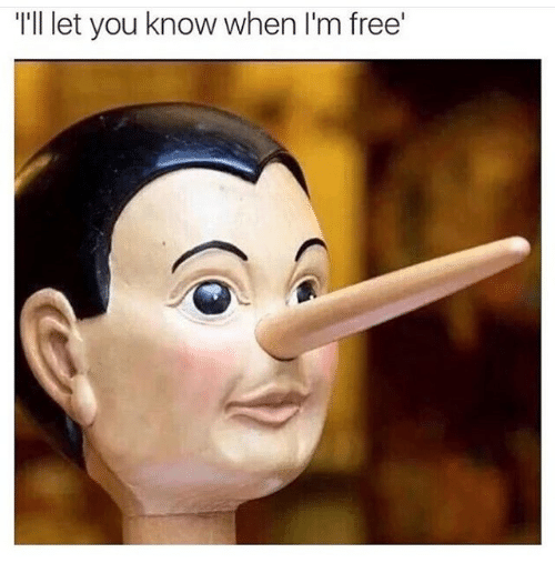 im free: T'll let you know when I'm free'