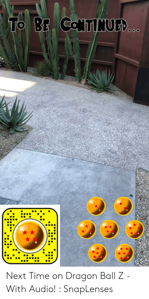 Snaplenses: To BE ColNTINUED..  OOO Next Time on Dragon Ball Z - With Audio! : SnapLenses