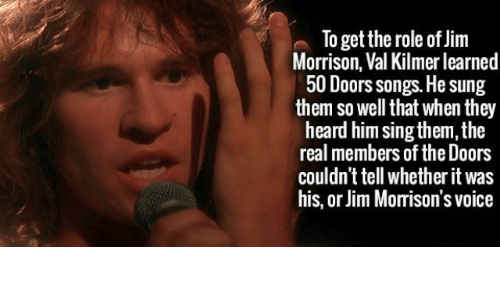 Jim Morrison Songs and The Real To get the role of Jim Morrison  sc 1 st  ESMEMES.COM & To Get the Role of Jim Morrison Val Kilmer Learned 50 Doors Songs He ...