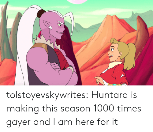 Tumblr, Blog, and Com: tolstoyevskywrites:  Huntara is making this season 1000 times gayer and I am here for it
