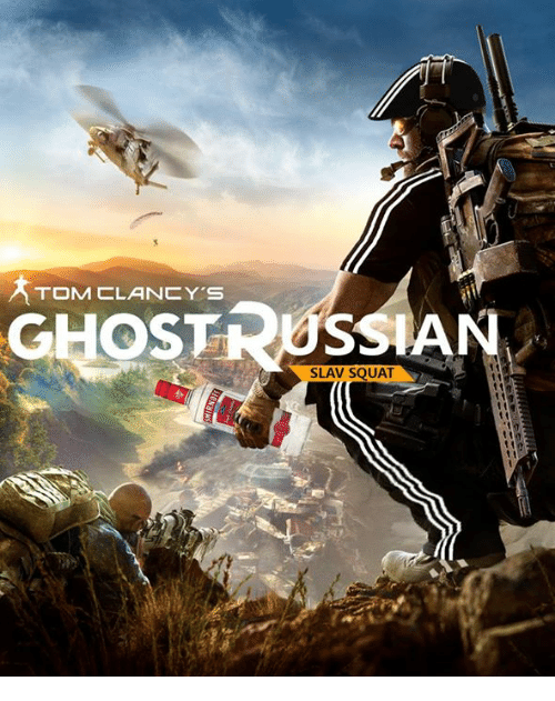 Slav Squat: TOM CLANCY'S  CHOS  RUSSIAN  SLAV SQUAT