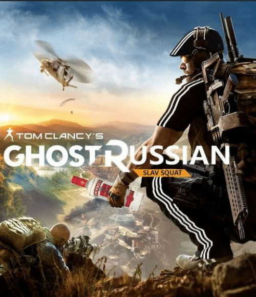 Slav Squat: TOM CLANCY'S  GHOSTRUSSIAN  SLAV SQUAT