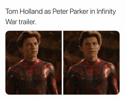 Tom Holland As Peter Parker In Infinity War Trailer