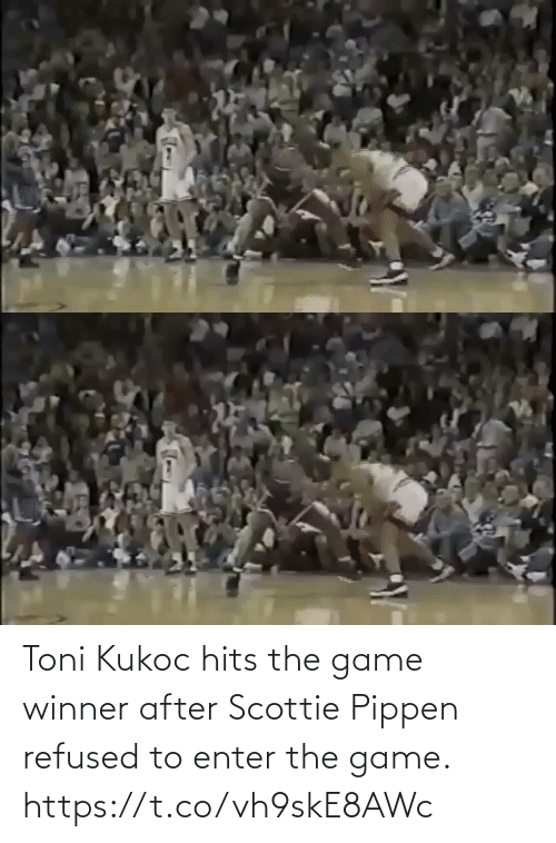 Game Winner: Toni Kukoc hits the game winner after Scottie Pippen refused to enter the game.    https://t.co/vh9skE8AWc