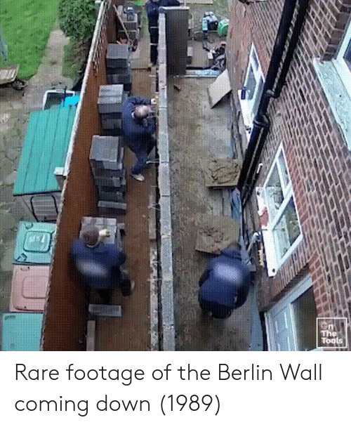 rare footage: Tools Rare footage of the Berlin Wall coming down (1989)