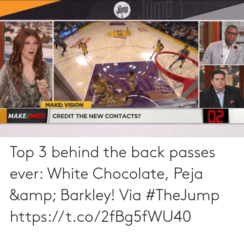 top: Top 3 behind the back passes ever: White Chocolate, Peja & Barkley!  Via #TheJump   https://t.co/2fBg5fWU40