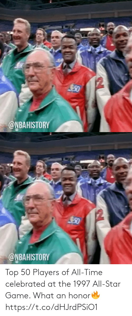 top: Top 50 Players of All-Time celebrated at the 1997 All-Star Game. What an honor🔥 https://t.co/dHJrdPSiO1