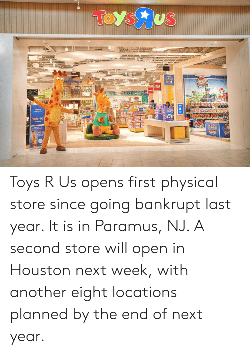 Lego, Lol, and Toys R Us: TOys us  LEGO  WHAITS COOLY  LOL  TaysJus  PATROL  TaE98  PAT  Coffe Toys R Us opens first physical store since going bankrupt last year. It is in Paramus, NJ. A second store will open in Houston next week, with another eight locations planned by the end of next year.