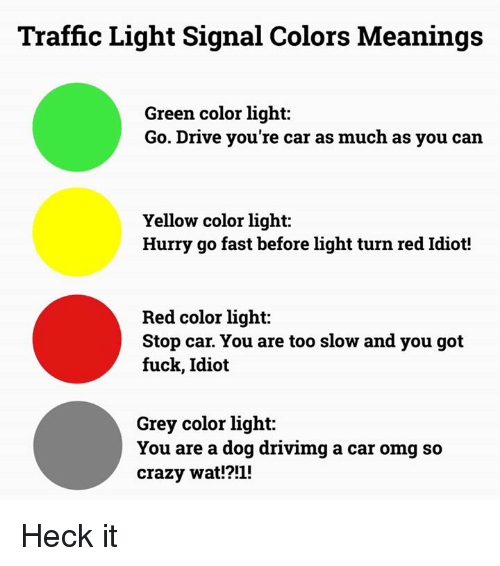 Traffic Light Signal Colors Meanings Green Color Light Go Drive You