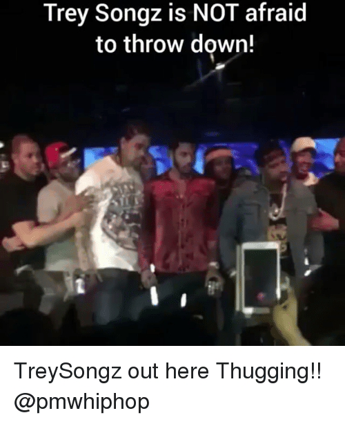 Throw Down: Trey Songz is NOT afraid  to throw down! TreySongz out here Thugging!! @pmwhiphop