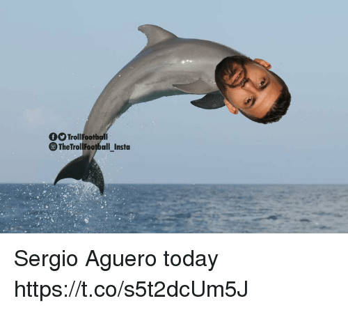 Memes, Today, and 🤖: TrollFootball  TheTrollFootball_Insta Sergio Aguero today https://t.co/s5t2dcUm5J