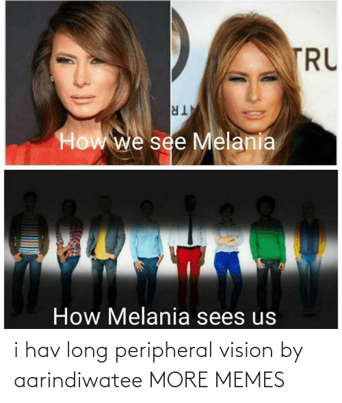 Melania: TRU  TR  How we see Melania  How Melania sees us i hav long peripheral vision by aarindiwatee MORE MEMES