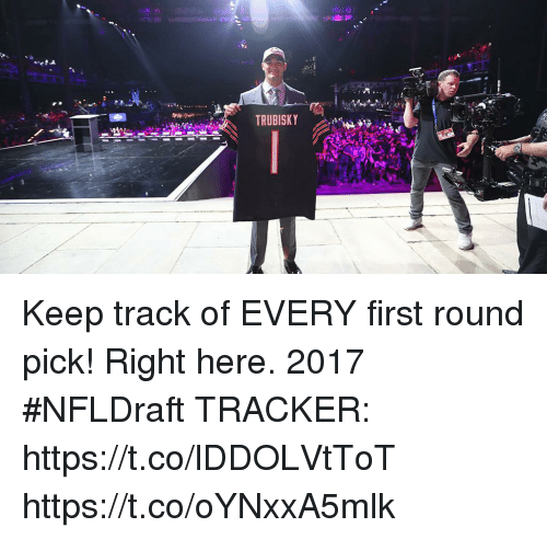 Memes, 🤖, and First: TRUBISKY Keep track of EVERY first round pick! Right here.  2017 #NFLDraft TRACKER: https://t.co/lDDOLVtToT https://t.co/oYNxxA5mlk