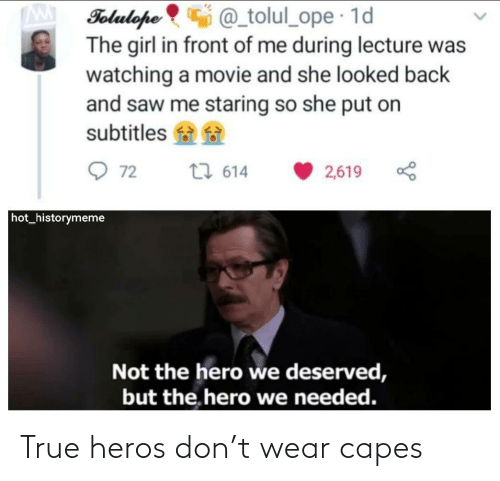 capes: True heros don't wear capes