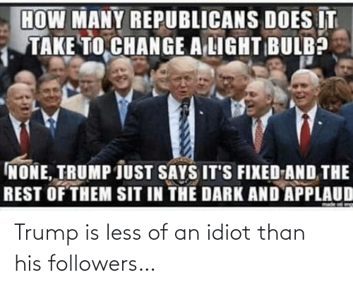 Trump: Trump is less of an idiot than his followers…