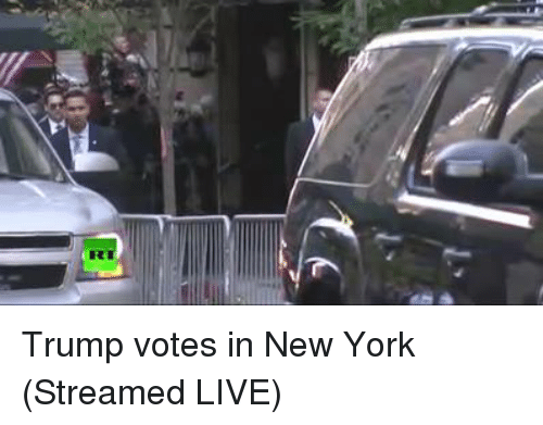 Trump Vote: Trump votes in New York (Streamed LIVE)