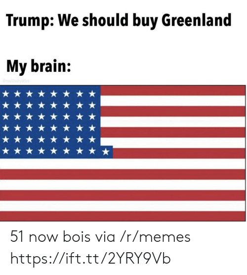 greenland: Trump: We should buy Greenland  My brain:  realDallyWire 51 now bois via /r/memes https://ift.tt/2YRY9Vb