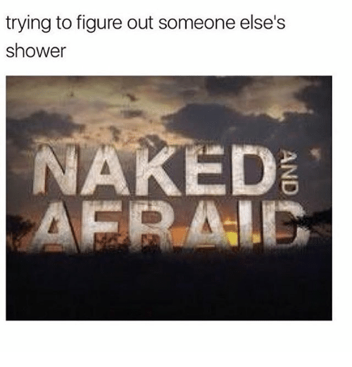 aer: trying to figure out someone else's  shower  NAKED  AER ALG